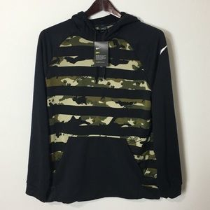 Nike Camo Dri Fit Pullover Hoodie Size Large